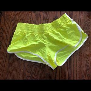 Pants - Neon yellow running shorts NWOT